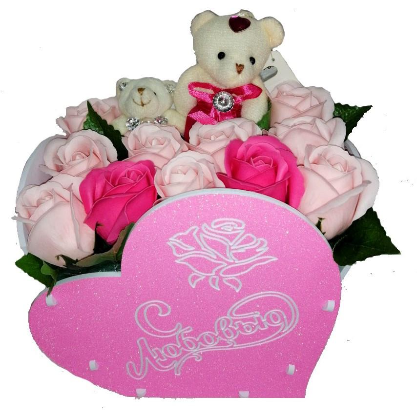 """Розы из мыла """"Сердце"""""""